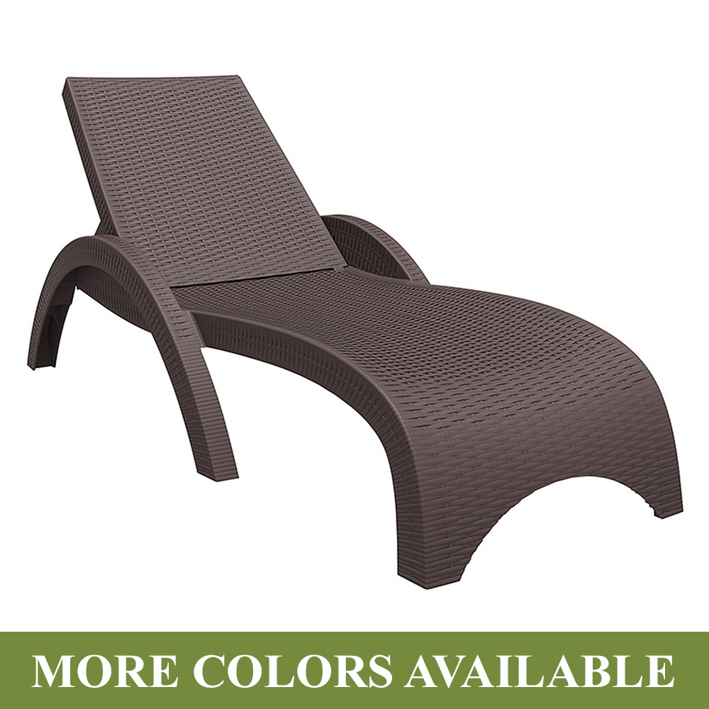 Compamia miami resin wickerlook chaise lounge free shipping for Chaise longue resine
