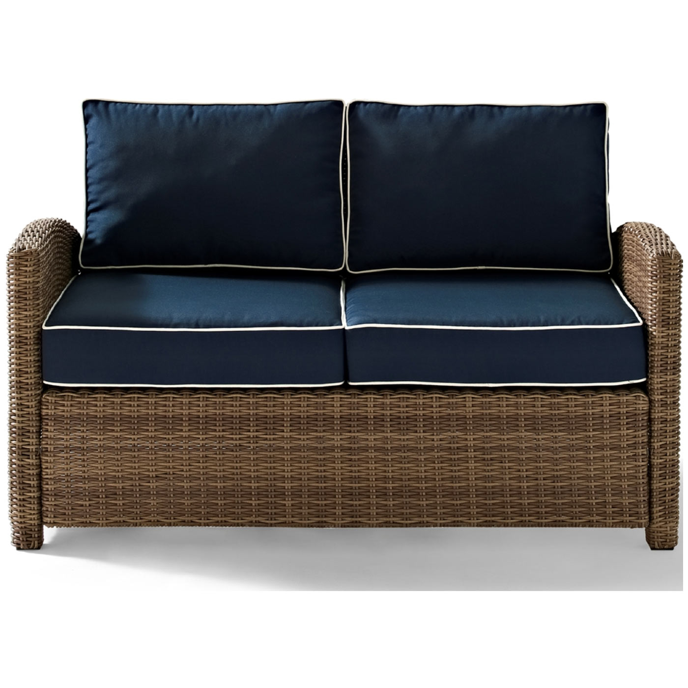 Crosley Biltmore Outdoor Wicker Loveseat With Cushions Free Shipping