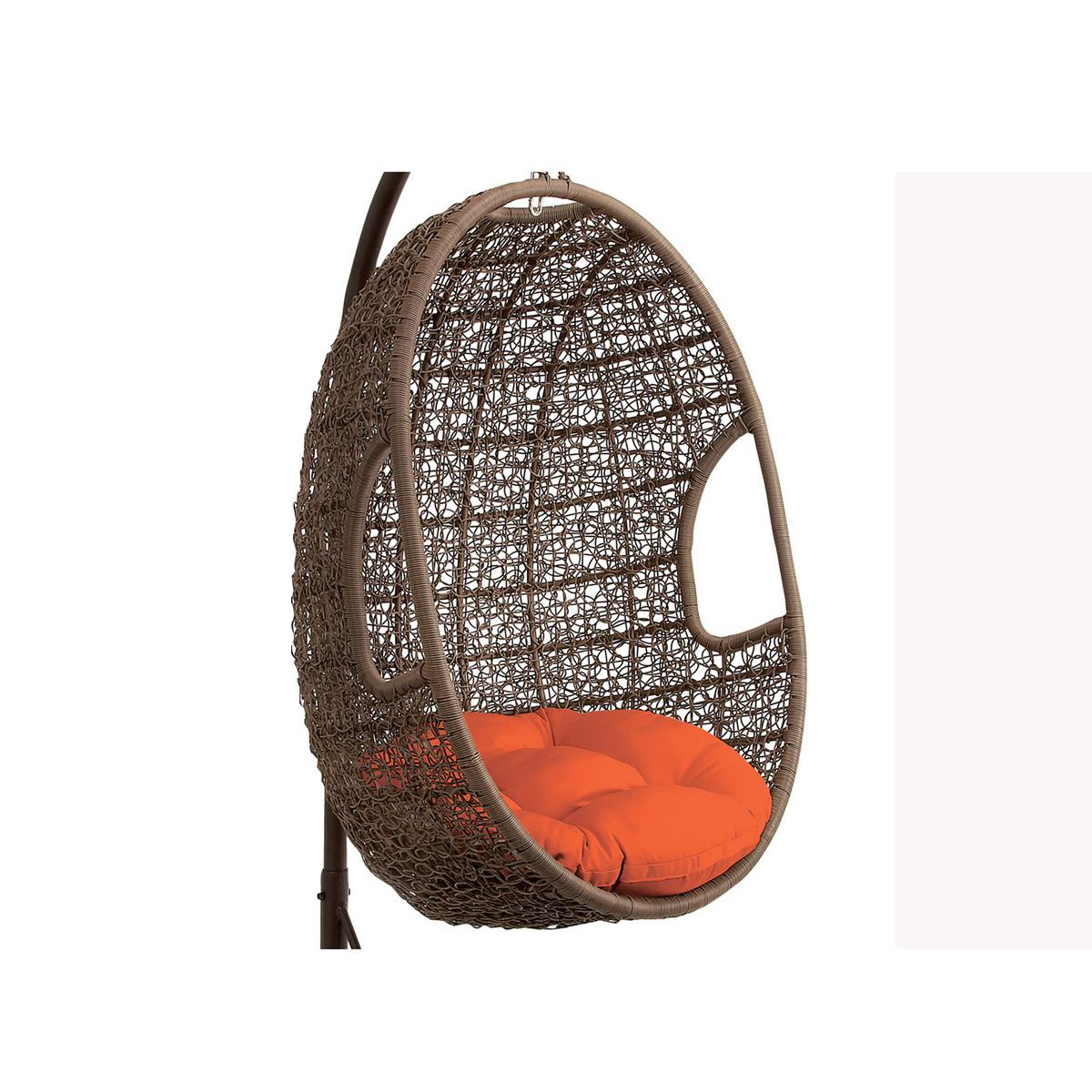 Hanover Outdoor Wicker Rattan Hanging Egg Chair Swing With Bold Stripe Pattern Free Shipping