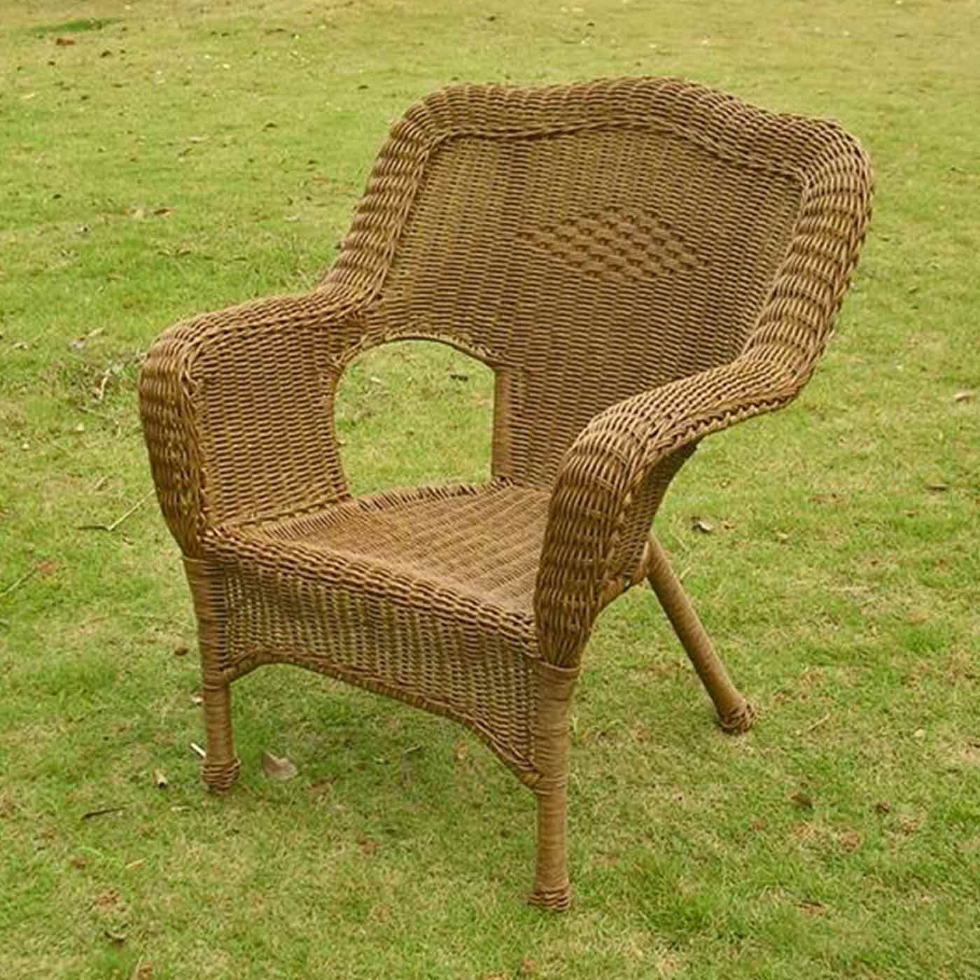 International Caravan Camelback Resin Wicker Patio Chairs Set Of 2 Free Shipping