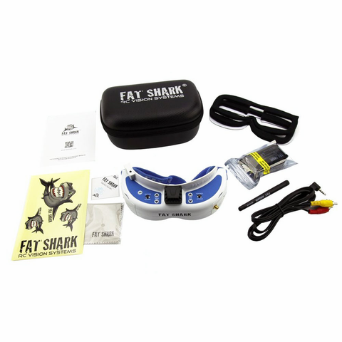 2018 Newest Version! Fat Shark FSV1063-04 Dominator V3 Headset FPV Video Goggles with 5.8G OLED Reciever And Antenna