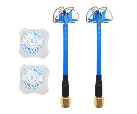 Aomway 5.8G 3DBi 4 Leaf Clover Antenna with Protection Cover 2 PCS RHCP (US Warehouse)