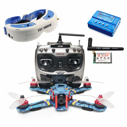 ARRIS C250 V2 250MM FPV Racing Quad RTF with Fatshark Dominator V3 Goggle