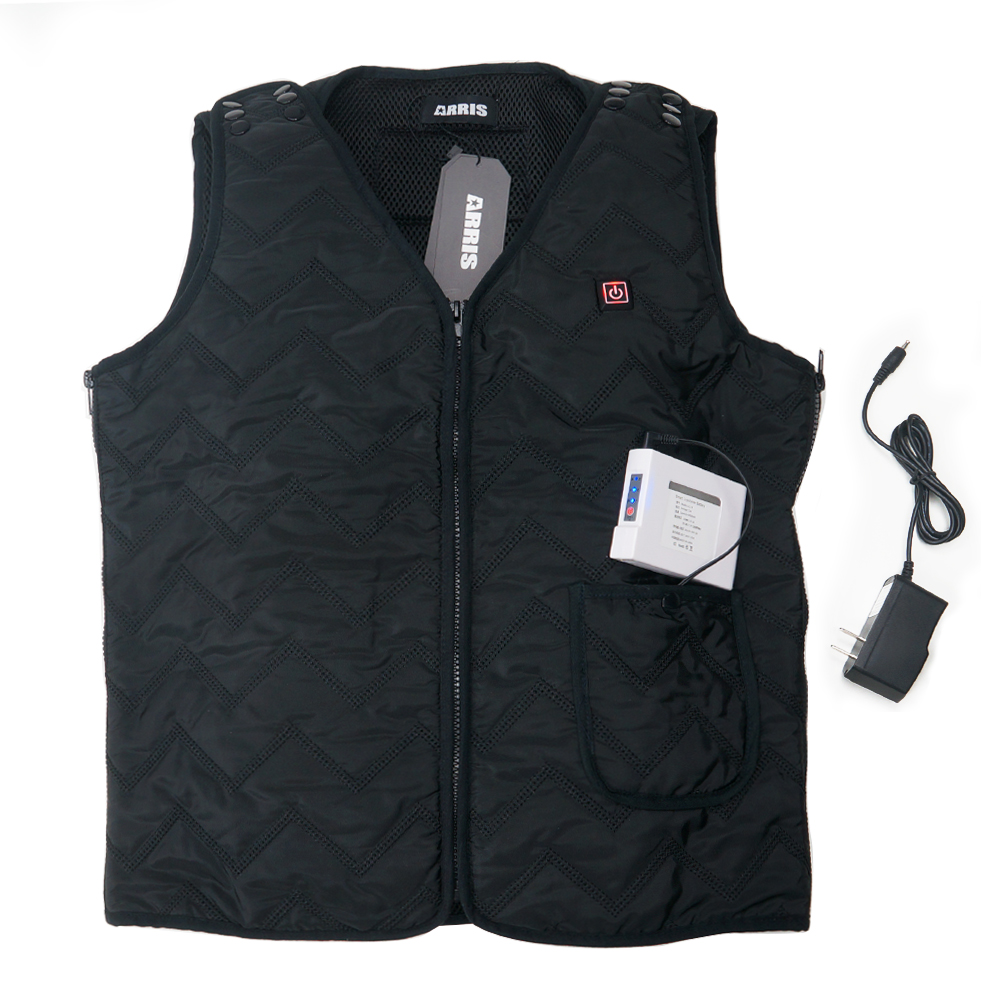 Battery Heated Vest For Man W 7 4v 6000mah Rechargable Outdoor Use