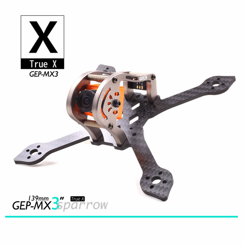 "GEP MX3 Sparrow 3"" Micro FPV Racing Drone Frame"