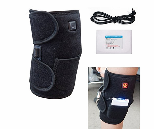 Heated Knee Wrap/ Electric Therapeutic Heating Pad W/ Rechargable 7.4V 2600Mah Battery