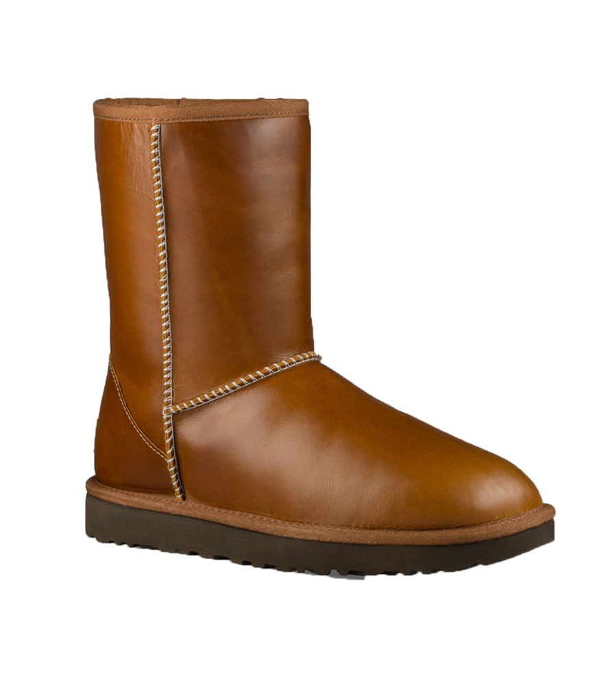 classic short leather in chestnut by ugg women s ugg boots women s ugg shoes ugg. Black Bedroom Furniture Sets. Home Design Ideas