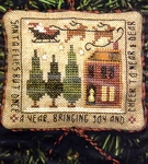 2004 Sampler Ornament - Santa Flies But Once A Year
