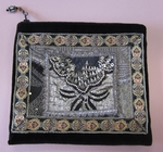 "7"" Black Glitzy Accessory Bag"