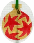 Red Stars/Gold Ornament