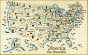 America the Beautiful USA Map