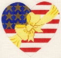 Americana Heart Yellow Bow