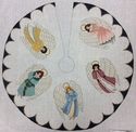Angels On Tabletop Small Tree Skirt