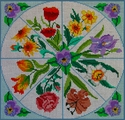 Assorted Flowers in a Pansy Square