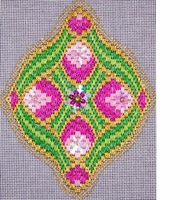 Bejeweled Bargello Ornament #1