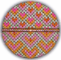 Bejeweled Bargello Ornament #10