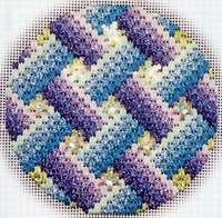 Bejeweled Bargello Ornament #13