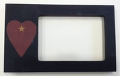 Black Frame w/ Heart & Stars