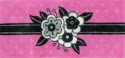 Black & White Floral On Pink