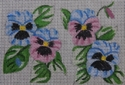 Blue & Pink Pansies
