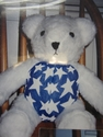 Blue & White Stars Bear