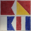 BOAT Signal Flags Coaster