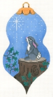 Bunny and Star Ornament