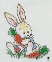 Bunny In Carrot Patch