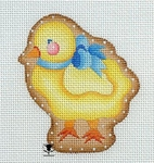 Chick w/ Blue Bow Cookie
