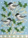 Chickadees On Holly