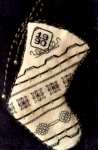 "Christmas Club 1990 - February Mini Sock ""Blackwork"""