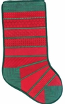 Christmas Stripes Stocking