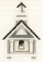 Church Birdhouse w/ Pillars