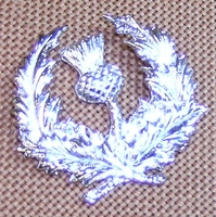 Circled Thistle Brooch