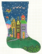 City and Santa Mini Sock