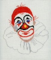 Clown Face with Red Hair