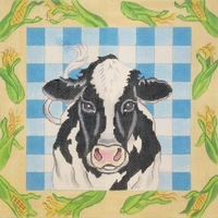 Cow With Corn Border