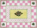 Flowers w/ Checkered Border