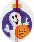 Ghost & Jack-o-Lantern Ornament