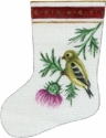 Goldfinch and Thistles Mini Sock