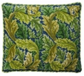 Green/Blue Acanthus Pillow/Chairseat