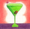 Green Martini Coaster