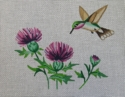 Hummingbird in Thistle, 18 mesh