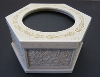 Ivory Hexagonal Box