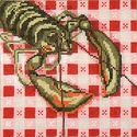 Lobster on Table Cloth
