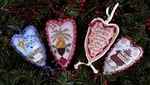 Merry Hearts Ornaments I
