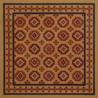 Moroccan Tiles, Caramel & Desert Colors, 18m
