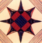 North Carolina Star Quilt Patch