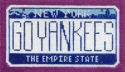 NY License Plate - Go Yankees