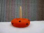 Orange & Black Polka Dot Stand
